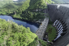 Bhumibol Dam the power of water , tak thailand. Royalty Free Stock Image