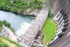 Bhumibol Dam, Tak Province, Thailand. View of electric power plant at Bhumibol Dam, Tak Province, Thailand Royalty Free Stock Photo
