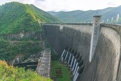 The Bhumibol dam in tak, thailand. Royalty Free Stock Photos