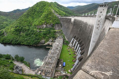 Bhumibol dam in Thailand. With electricity generation Royalty Free Stock Photo