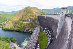 The Bhumibol Dam in Thailand. Royalty Free Stock Photography