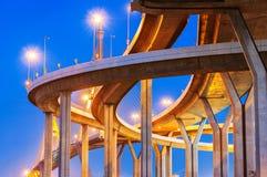 Bhumibol highway Bridge Royalty Free Stock Photo