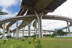 Bhumibol huge bridge Stock Images