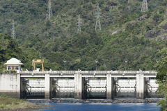 Bhumibol Lower dam with mountain , Tak Thailand. Royalty Free Stock Images