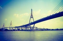 Bhumibol suspension Bridge Royalty Free Stock Image