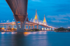 bhumibolbro thailand Arkivbild