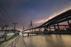 bhumibolbro thailand Arkivfoto