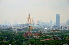 Bhumibolbrug, Bangkok in Thailand Stock Afbeeldingen