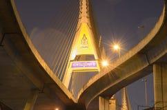 Bhumibolbrug in Thailand stock foto