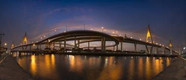 Bhumiphol bro Arkivbild