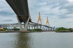 Bhumiphol Highway bridge Royalty Free Stock Image
