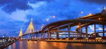 bhummiphol桥梁行业环形泰国 免版税图库摄影