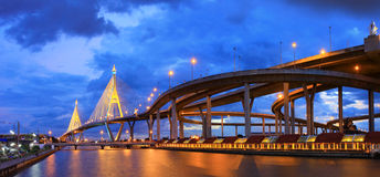 Bhummiphol Bridge Industry Ring Thailand. Royalty Free Stock Photography