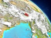 Bhután de la órbita ilustración del vector