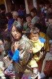 Bhután, Haa, Tshechu Imagenes de archivo