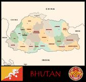 Bhutan Administrative divisions Stock Images