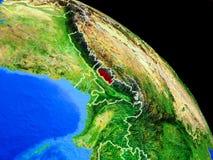 Bhutan auf Planet Erde vektor abbildung