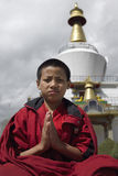 Bhutan - Buddhist Monks royalty free stock images