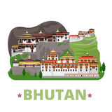 Bhutan country design template Flat cartoon style. Bhutan country design template. Flat cartoon style historic sight showplace web site vector illustration Stock Image