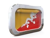 Bhutan 3D illustratie van de Knoopvlag Royalty-vrije Stock Afbeelding