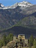 Bhutan - Drukgyel Dzong (kloster) Royaltyfria Foton