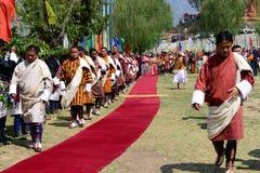 Bhutan-Festival lizenzfreies stockbild