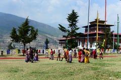 Bhutan-Festival stockfoto