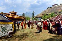 Bhutan-Festival lizenzfreie stockbilder