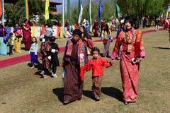Bhutan festival Royaltyfria Bilder