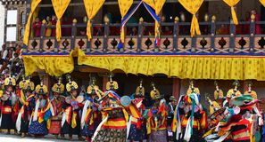 Bhutan Festival Stock Photography