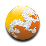 Bhutan flag. In the style of a ball stock illustration