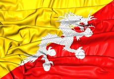 bhutan flagę Obraz Royalty Free