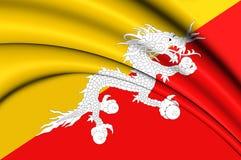 bhutan flagę Zdjęcie Stock
