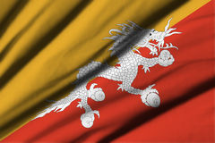 bhutan flagga Royaltyfri Foto