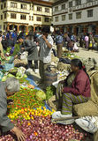 Bhutan - Food market - Town of Paro Stock Images