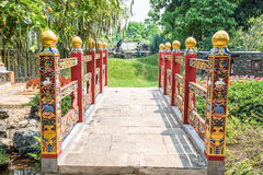 Bhutan garden building at royal flora chiangmai thailand. Royalty Free Stock Photo