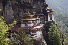 bhutan goembataktshang Royaltyfria Foton