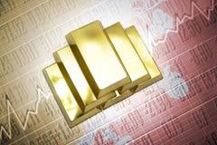 Bhutan gold reserves Stock Images