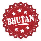 Bhutan grunge stamp Royalty Free Stock Images