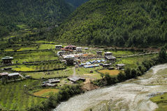 Bhutan, Haa. Bhutan, religious festival named Thsechu in Karpho Lhakhang in Haa Royalty Free Stock Images