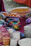 Bhutan koszykowy tkactwo Obrazy Royalty Free