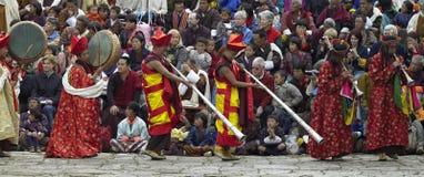 bhutan królestwa paro tsechu zdjęcie royalty free