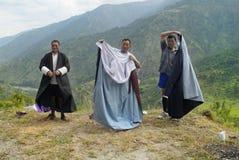 Bhutan, ludzie fotografia royalty free