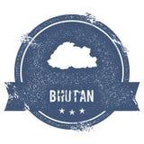Bhutan mark. Royalty Free Stock Photos
