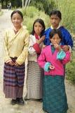 Bhutan, Mensen Royalty-vrije Stock Afbeelding