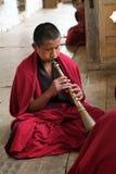 Bhutan, Monk Stock Image