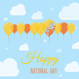 Bhutan National Day Flat Patriotic Poster. Royalty Free Stock Photo