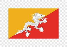Bhutan - nationsflagga stock illustrationer