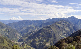 Bhutan oostelijke bergen Stock Afbeeldingen