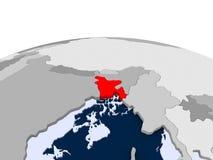 Bhutan op politieke bol Stock Foto